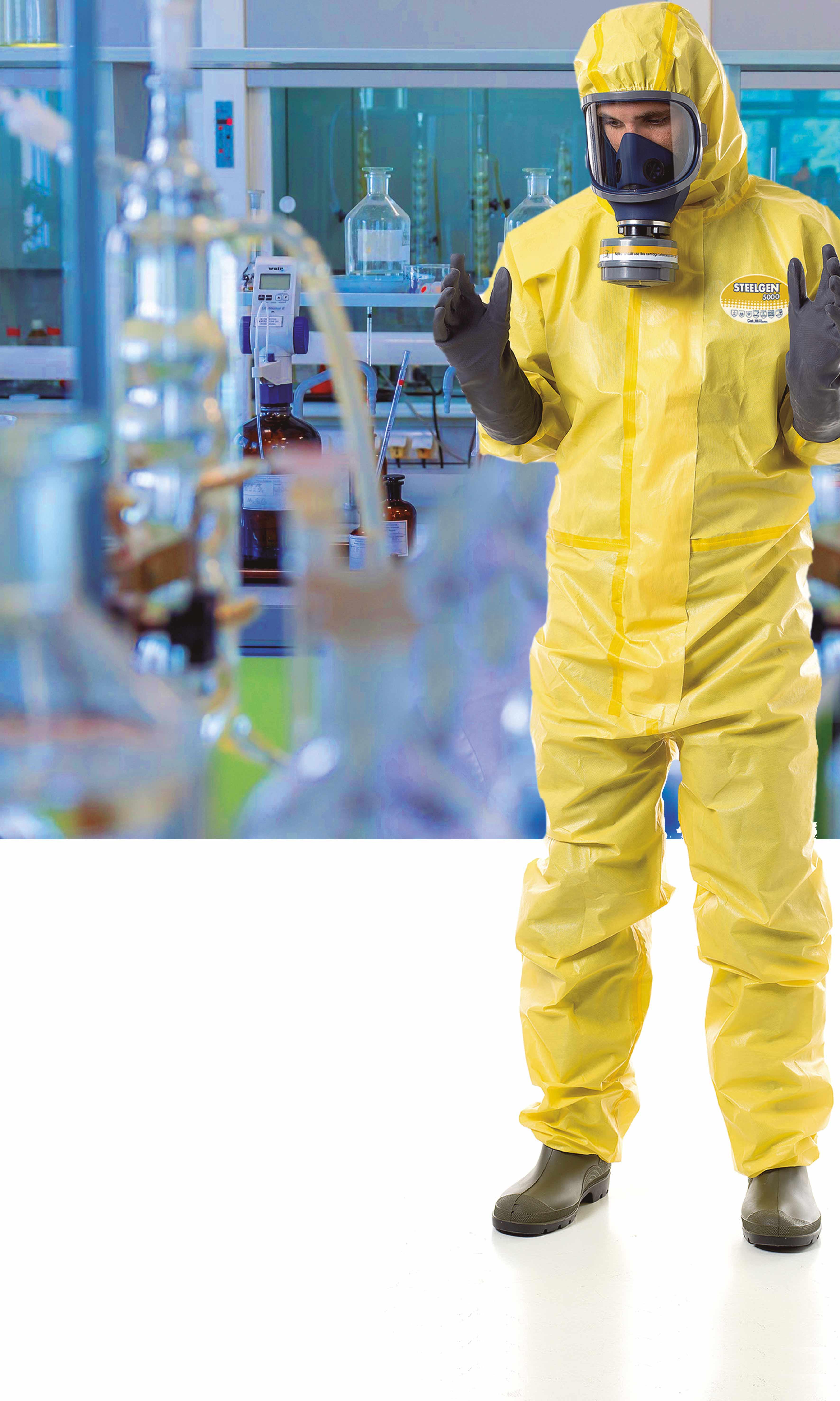 Gants et vêtements de protection chimique