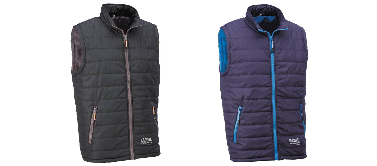 New padded vest from the KASUAL line