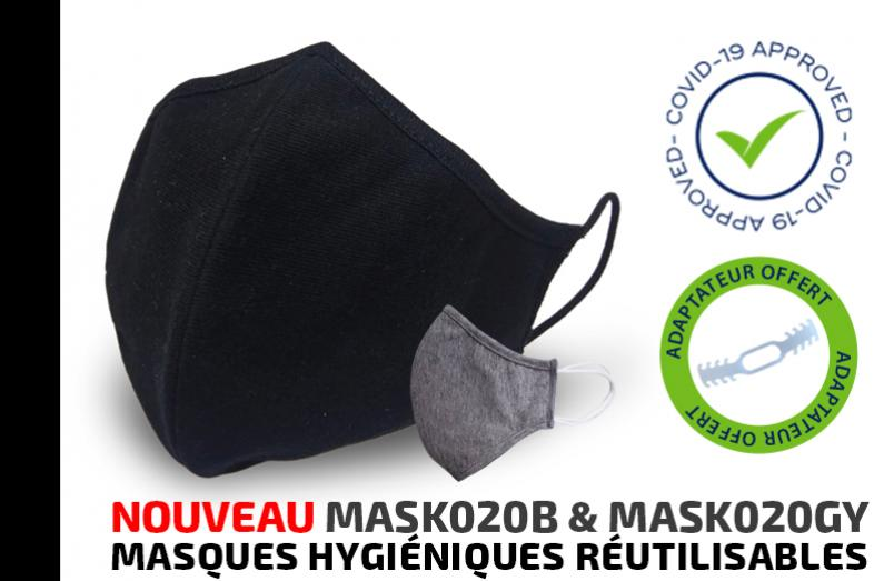 Masques hygiéniques réutilisables contre COVID-19