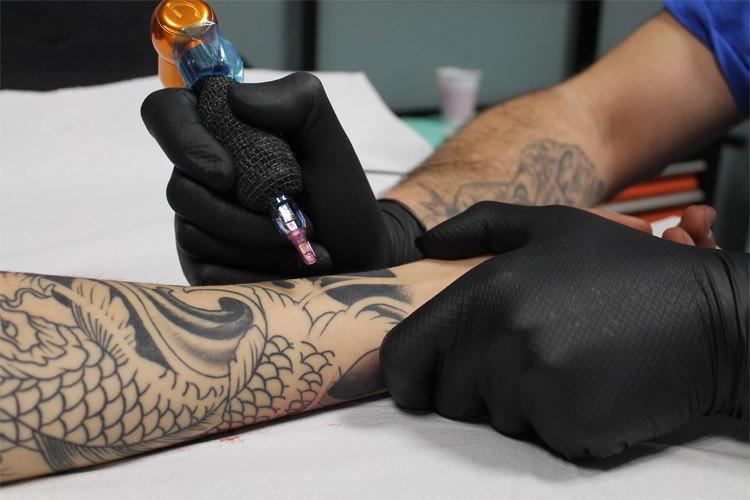 Gants en nitrile pour tatoueurs (Grippaz 580nr)