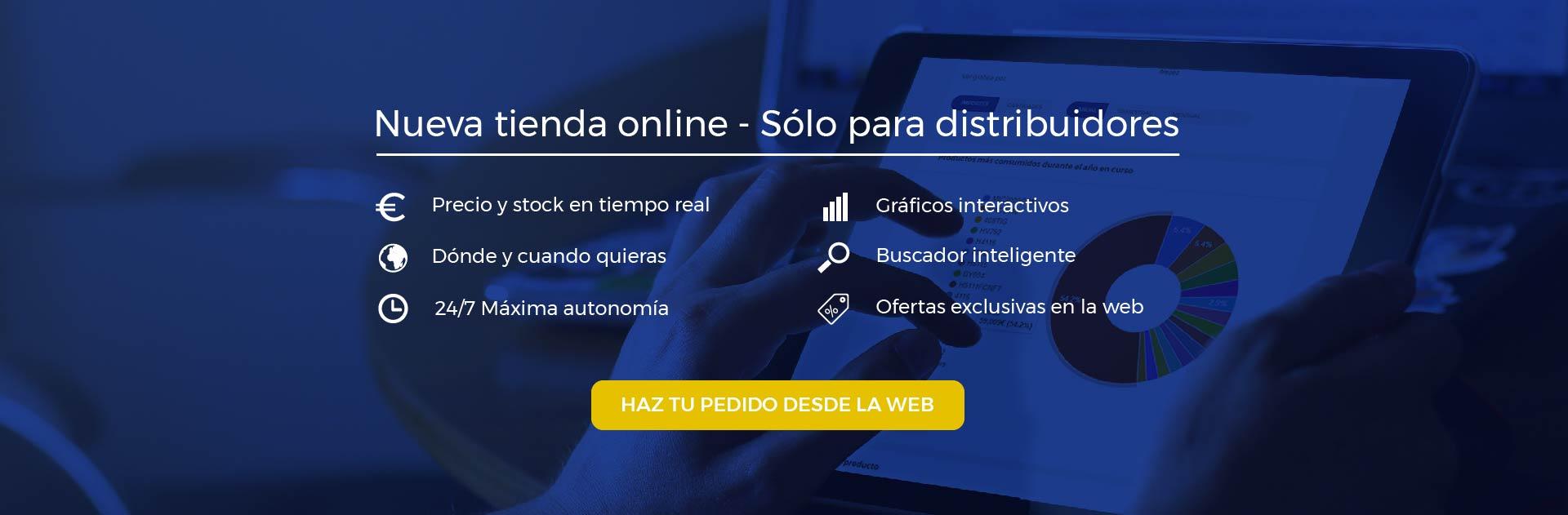 Nueva tienda online - Sólo para distribuidores
