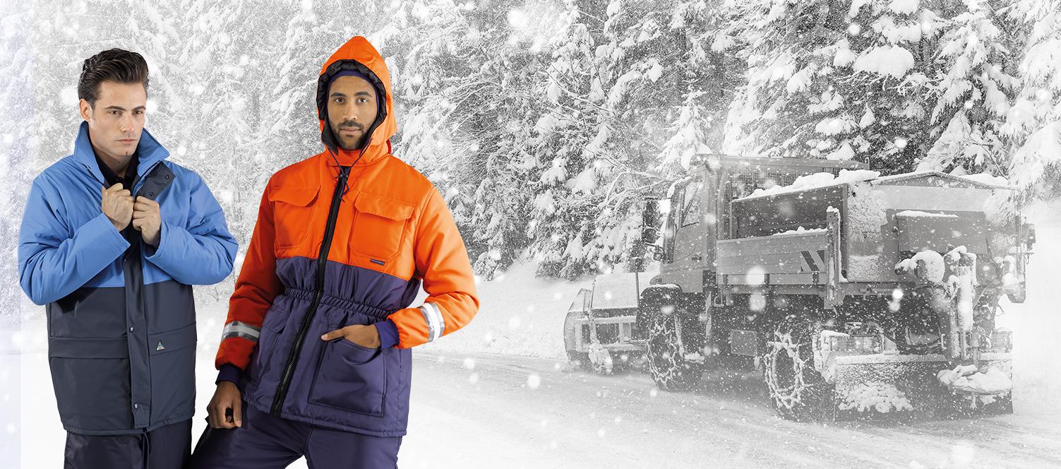 Ropa de trabajo adecuada para la protección contra el frío