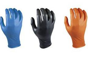 Grippaz nitrile gloves, five unique features
