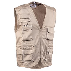 Vests - 844BEIGE FISHERMAN